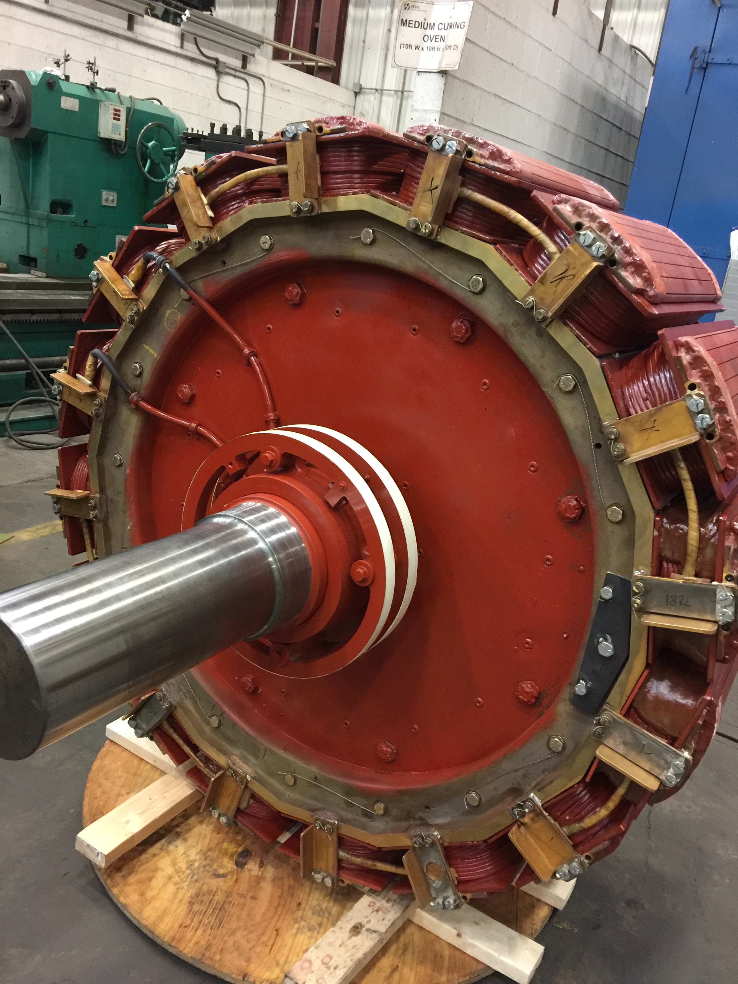 Synchronous electric motor repairs at HECO