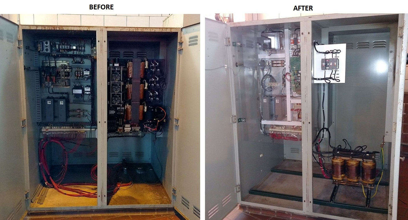 Replacing A Vfd Consider Retrofit Repairing Your Old Equipment Can Lead To Substantial Savings Before After 2