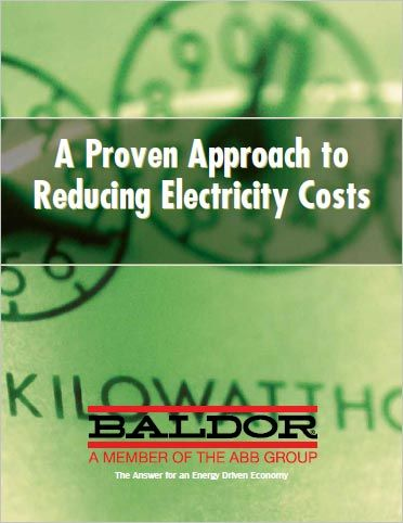 Baldor's Proven Approach to Reducing Electricity Costs