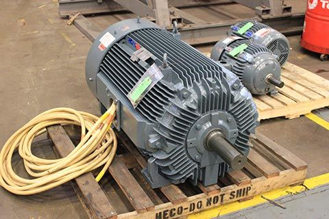 drop-in replacement electric motor in facility