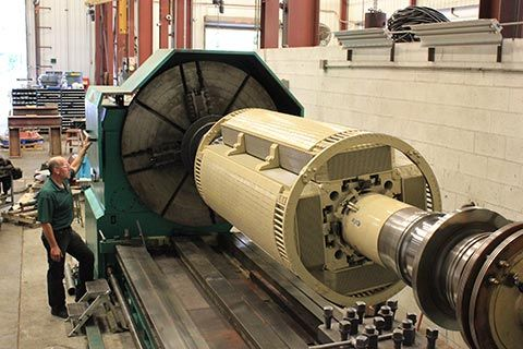 large electric motor repair