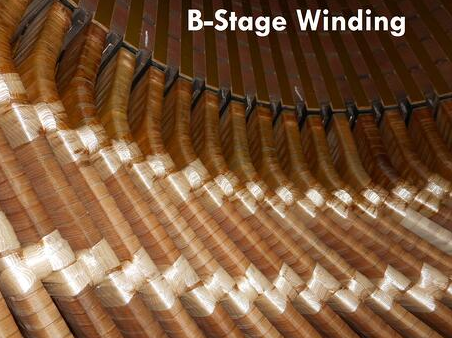 high voltage rewinds-b-stage winding for electric motor
